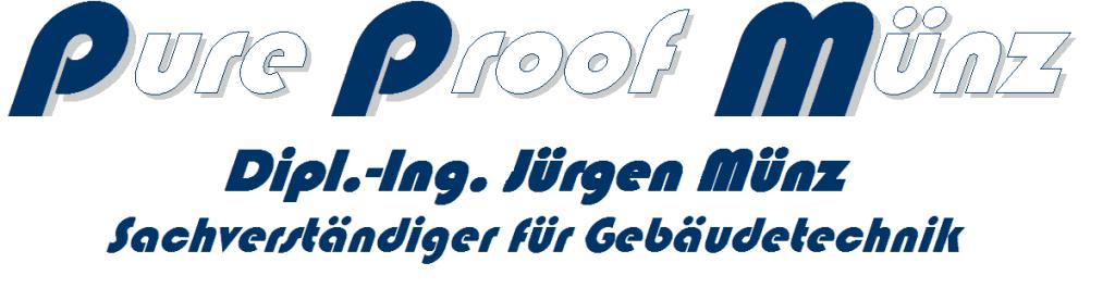 ppm - pure proof münz - Dipl.-Ing. Jürgen Münz - Sachverständiger für Gebäudetechnik